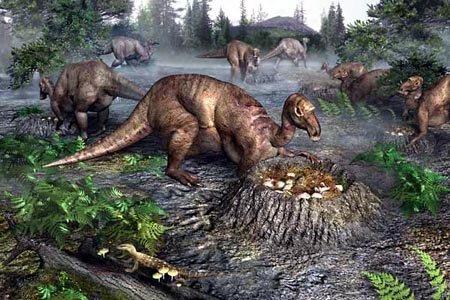 Чем выделялись среди остальных динозавров утконосые динозавры?