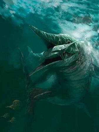 Ихтиозавр: челюсти