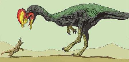Двухгребневый ящер - Дилофозавр или всё дело в голове?