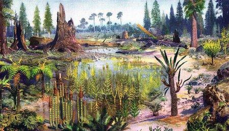 Мезозой флора и фауна