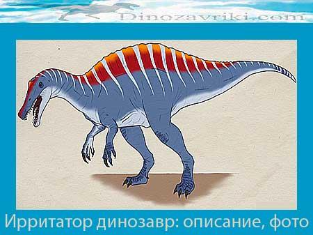 Ирритатор динозавр: описание, фото