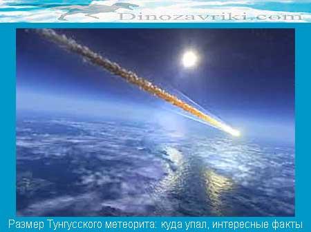 Тунгусский метеорит: размер, куда упал, интересные факты