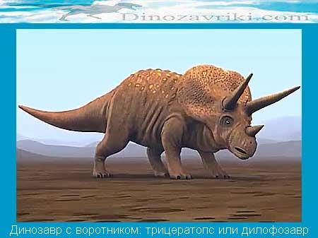 Динозавр с воротником: трицератопс или дилофозавр