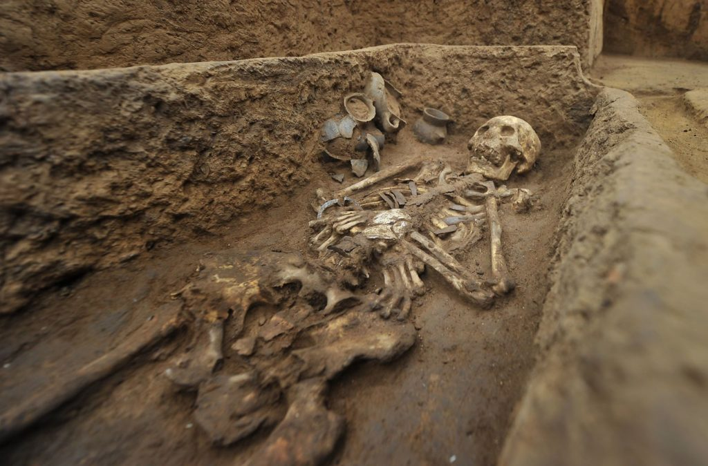 Археологические раскопки людей-гигантов