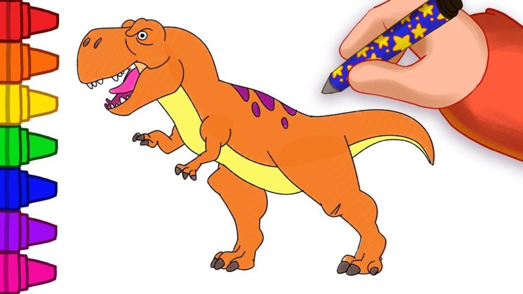 Как нарисовать маленького динозавра за несколько минут?