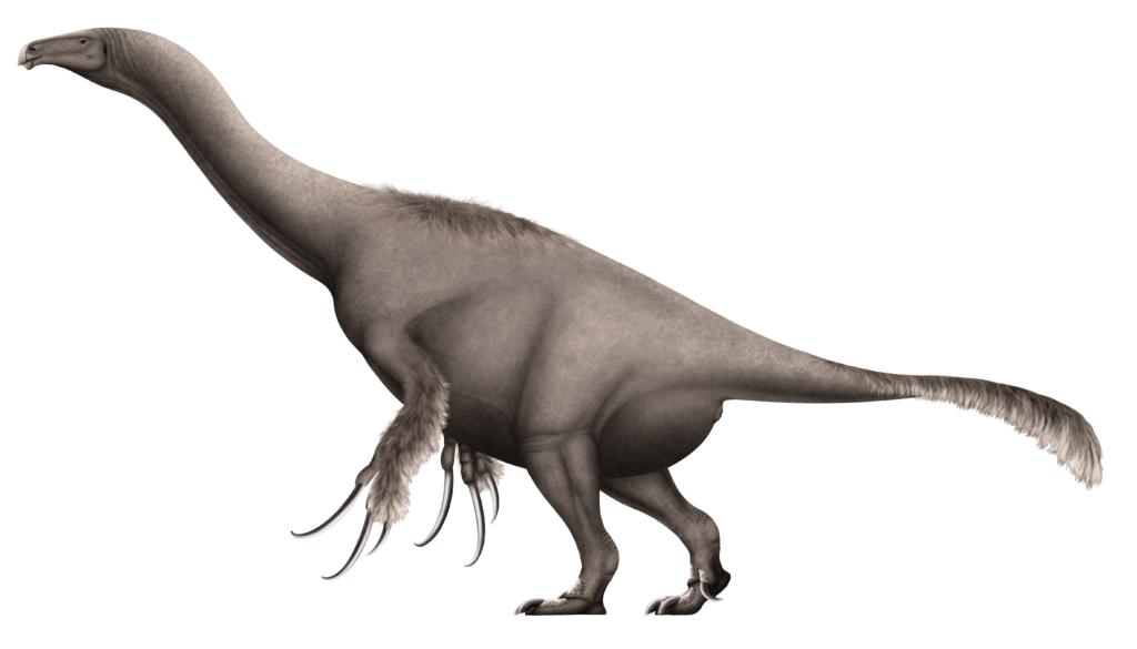 Травоядный динозавр с длинными когтями – теризинозавр