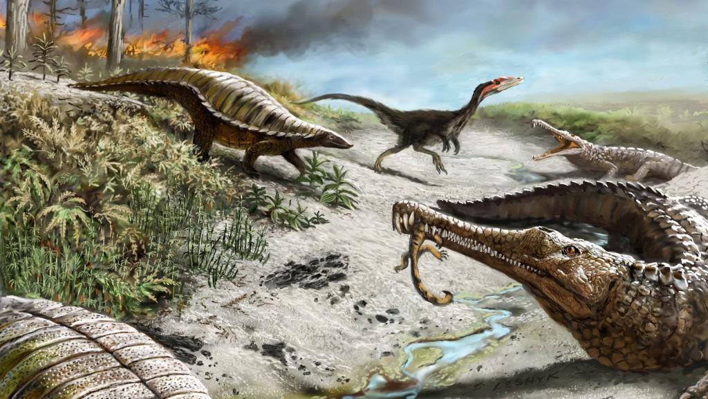 Первые динозавры на земле - древнейшие хищники и травоядные ящеры
