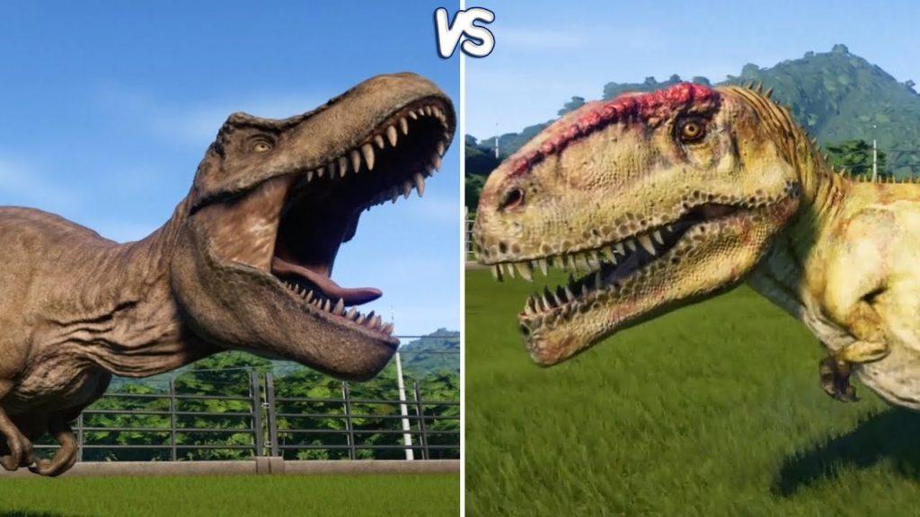 Шансы на победу: тираннозавр или гигантозавр